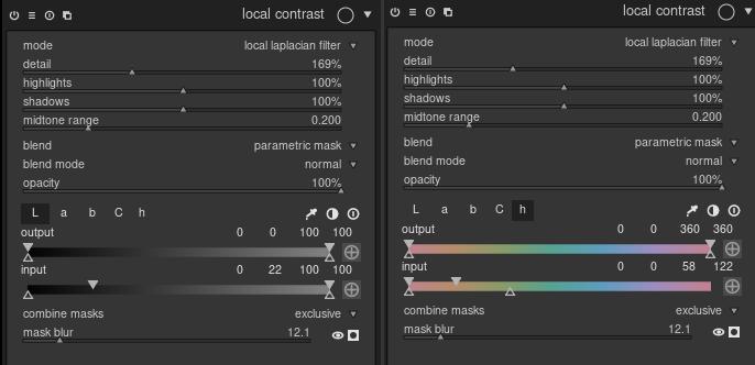 Local Contrast - module settings